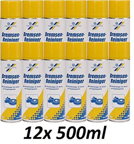 12x 500ml Spraydose BREMSENREINIGER VON CARTECHNIC